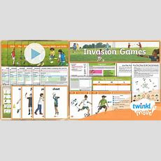 * New * Twinkl Move Pe  Y4 Invasion Games Unit Pack Unit