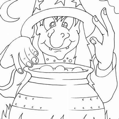 Witch Halloween Coloring Pages Colouring Printable Para