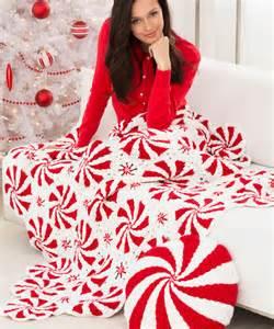 pillow mints peppermint throw and pillow crochet pattern heart