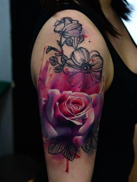 Tattoo Rosen Blumen Motiv Arm Tattoovorlage