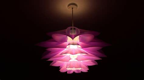 excelvan diy lotus pendant lamp shade youtube