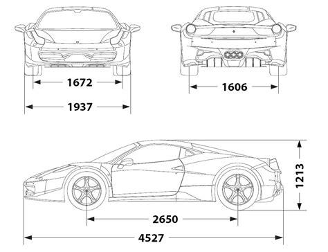 ferrari  italia  smcarsnet car blueprints