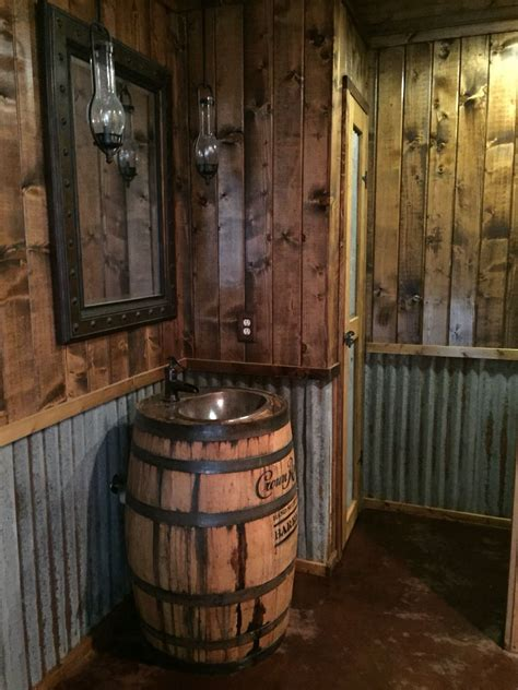 Rustic Bathroom Whiskey Barrel Vanity Whiskey Barrel