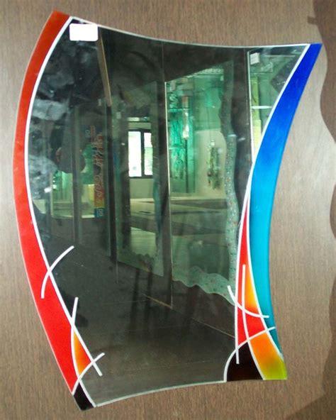 art  glass designer mirror