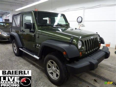 jeep metallic 2008 jeep green metallic jeep wrangler x 4x4 42243539