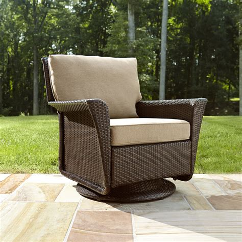 ty pennington style parkside swivel outdoor chair in