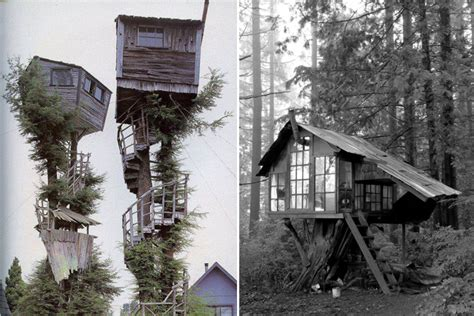 Comfy queen sized bed with luxurious bedding. Tree-rific Treehouses - Honestly WTF