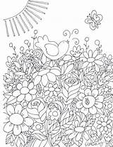 Pages Coloring Flower Garden Adult Sheets Murakami Takashi Flowers Drawing Printables sketch template