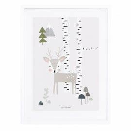 affiche decorative lapin fille pour decorer une chambre d With affiche chambre bébé avec fleur domicile