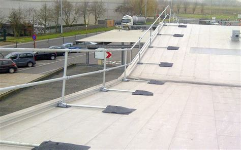 Safety Railing For Sloped Rooftop