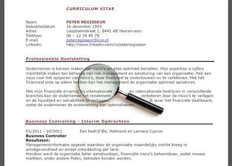 Curriculum Vitae Elevator Pitch by Hoe Maak Je Een Curriculum Vitae Voor Meer