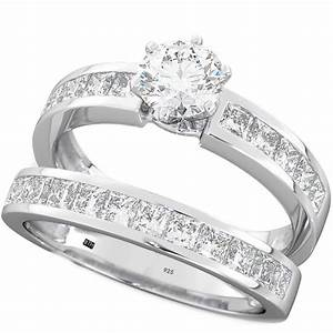 925 sterling silver wedding engagement bridal ring set With 925 silver wedding ring sets