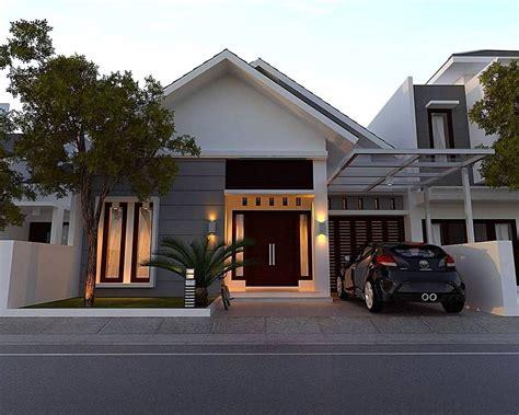 rumah minimalis sederhana bergaya modern  lantai tampak