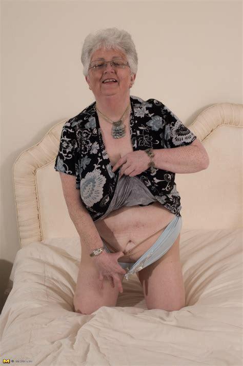 Naughty Big Breasted british granny Getting Frisky At
