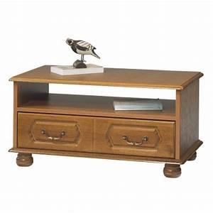 Table Basse Rustique : table basse ch ne rustique rectangle 2 tiroirs beaux meubles pas chers ~ Teatrodelosmanantiales.com Idées de Décoration