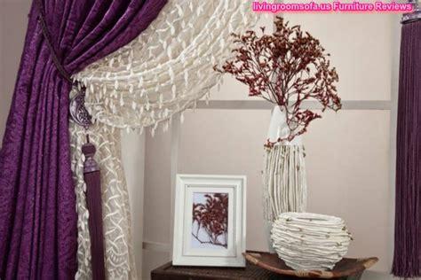 Purple White Bedroom Curtain Ideas