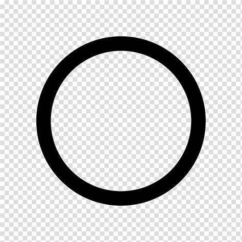 Black Circle Sign Symbol Hollow Circle Transparent