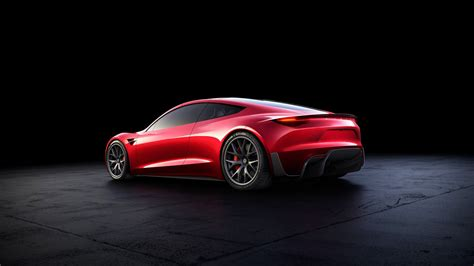 Rear Tesla Roadster Wallpaper