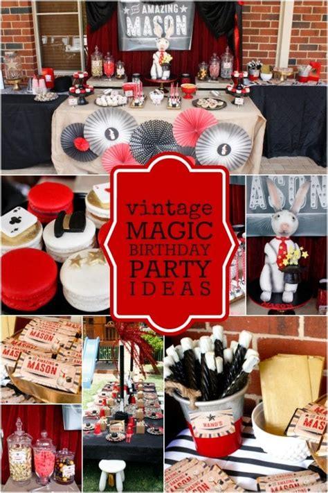abracadabra  boy  vintage magic birthday party