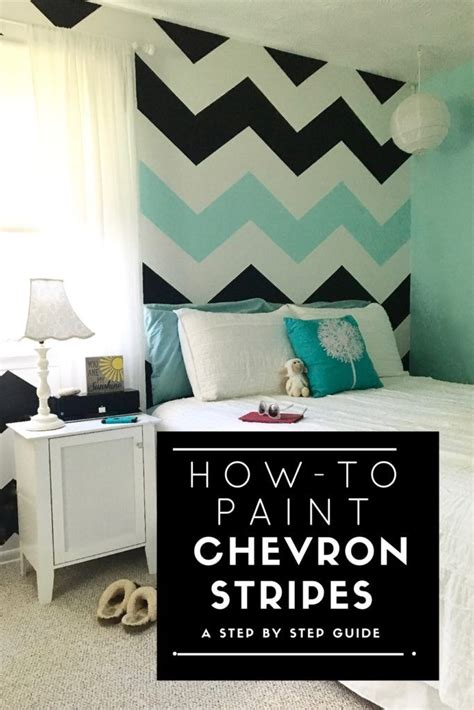 chevron bedroom decor a step by step tutorial on how to paint chevron stripes