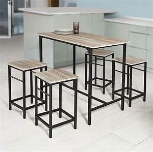 Bistrotisch Mit 2 Stühlen : sobuy bartisch set 5 teilig stehtisch bistrotisch real ~ Michelbontemps.com Haus und Dekorationen