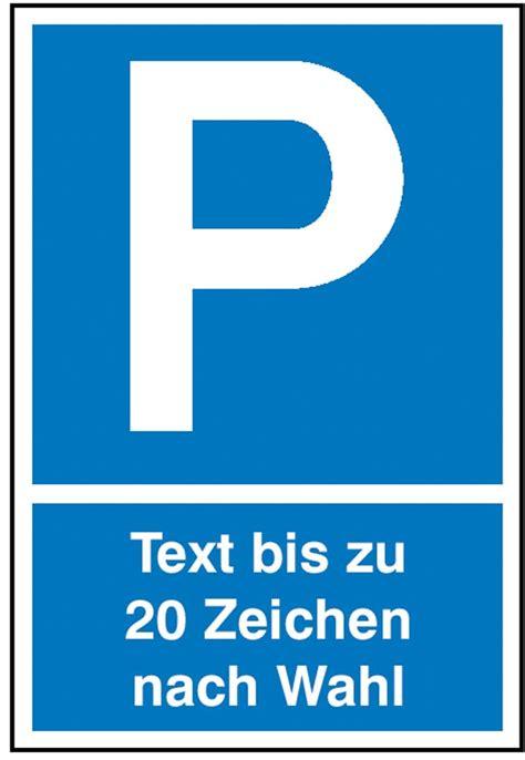 parkplatz schild symbol p mit max  zeichen text nach