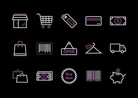 shopping icon set  images  logo