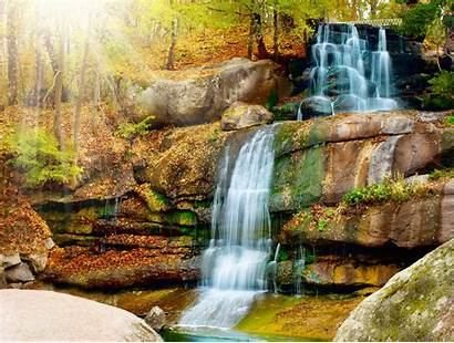 Waterfall Tropical Backgrounds Nature Desktop Wallpapers Forest