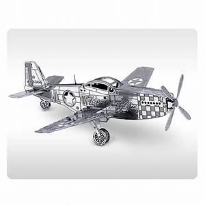 Artissimo Designs San Diego Air Force Mustang P 51 Aircraft Metal Earth Model Kit