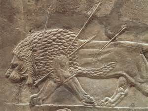 File:The Royal lion hunt reliefs from the Assyrian palace ...