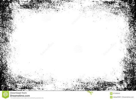 Frame Grunge Distressed Rough Border Old Black White