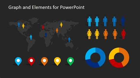 demographics infographic elements clipart  powerpoint slidemodel