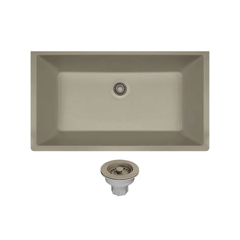 slate kitchen sink mr direct all in one undermount composite 33 in single 2306