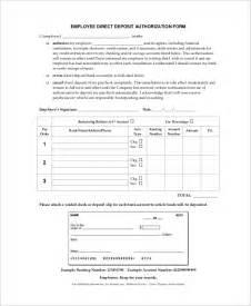Employee Direct Deposit Forms