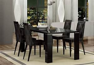 Black Lacquer Italian Made Dining Table Aurora Colorado AHARM
