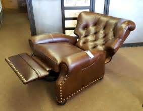 ethan allen leather recliner consignment gallery