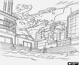 Thor Gigante Kolorowanki Colorear Frente Tegen Pożar Przeciwko Reus Fuego Kleurplaten Gigant Imprimir Giga Riesen Feuer Gegen Dibujos Fuoco Contro sketch template