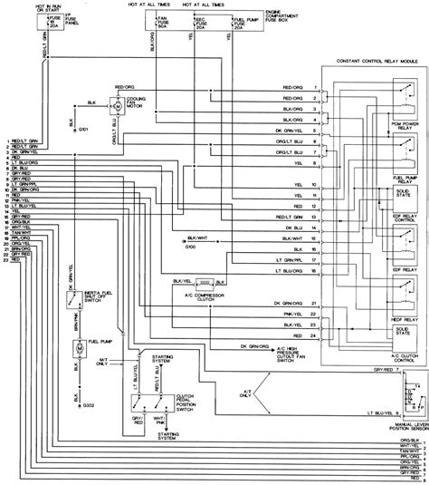 ford mustang fuel pump relay wiring diagram