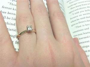 Simple Engagement Ring On Hand | www.pixshark.com - Images ...