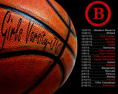 boys girls varsity basketball schedule wallpaper bellevue school
