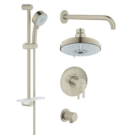 grohe grohflex timeless 4 spray shower and shower