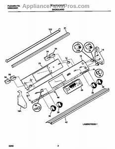 Parts For Frigidaire Fed367cetd  Control Panel Parts