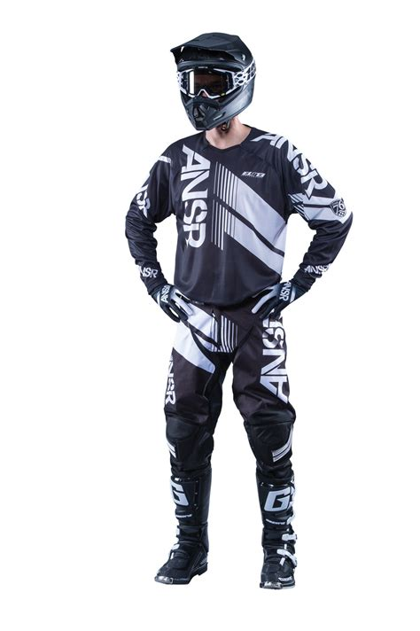 motocross gear for answer new 2016 mx elite black white bmx mtb dirt bike