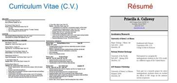 what s the difference between resume and cv resume