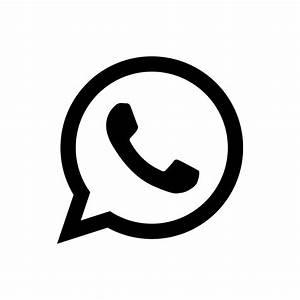 whatsapp-4096-black icons, free icons in Simple Icons ...