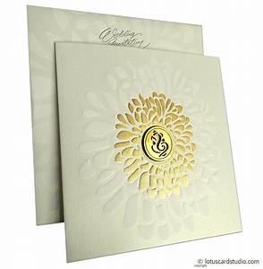 gold shine ganesh wedding card With wedding invitation ganesh pictures