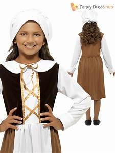 Girls Tudor Maid Servant Outfit Poor Child Kids Fancy ...