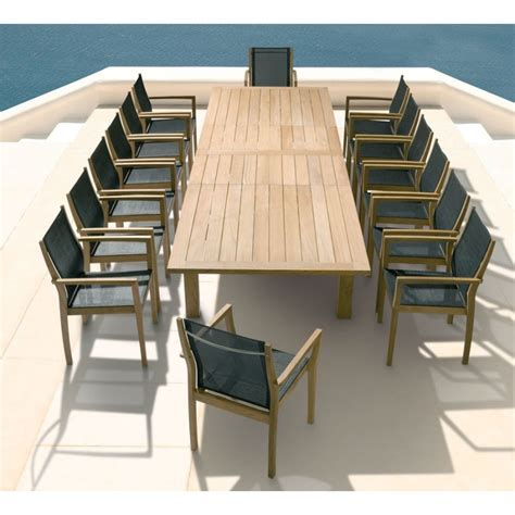 barlow tyrie apex cm rectangular extending teak dining