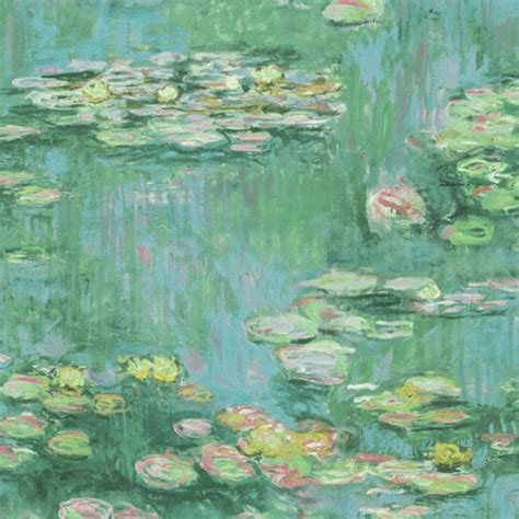 lily pads wallpaper  french impressionist  seabrook