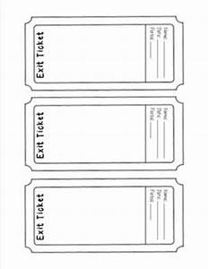 exit ticket template ticket template school and math With classroom exit ticket template
